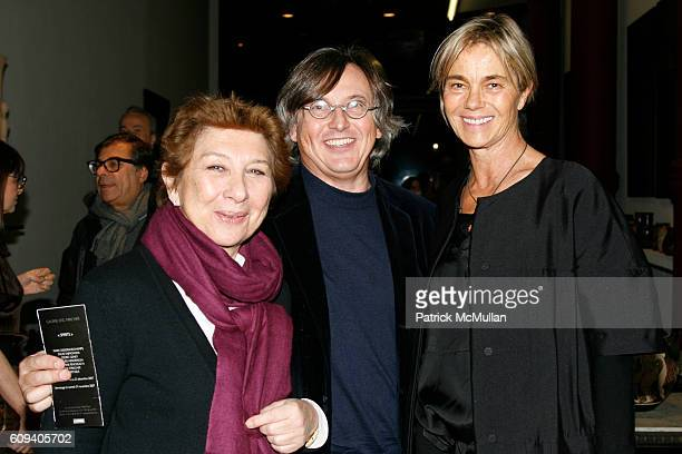 Franoise Dumas Pierre Passebon and Nadine Johnson attend KARL LAGERFELD GREEK REVIVAL Exhibition hosted by PIERRE PASSEBON at DELORENZO Gallery on...