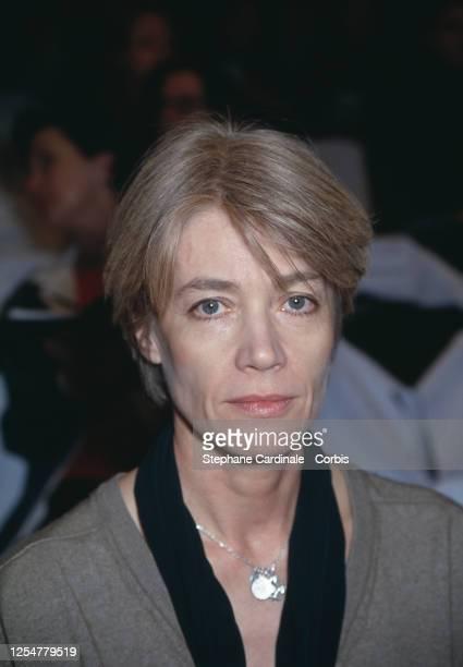 Françoise Hardy au défilé de la maison Courrèges de prêt à porter Automne/Hiver 94-95
