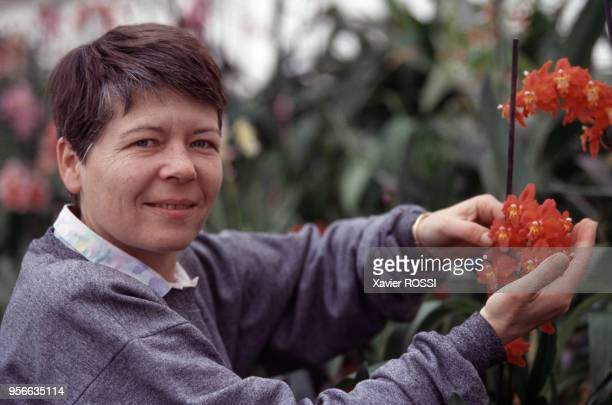 Françoise Lecoufle directrice de la pépinière d'orchidées le 7 avril 1999 à BoissySaintLéger France