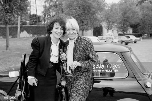 Françoise MalletJoris et MariePaule Belle à Paris en ami 1988 France