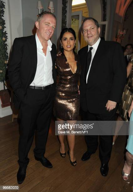 FrançoisHenri Pinault actress Salma Hayek and producer Harvey Weinstein attend the Vanity Fair and Gucci Party Honoring Martin Scorsese during the...