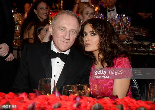 FrançoisHenri Pinault and actress Salma Hayek attend The Inaugural Diamond Ball presented by Rihanna and The Clara Lionel Foundation at The Vineyard...