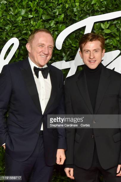 François-Henri Pinault and Daniel Lee arrive at The Fashion Awards 2019 held at Royal Albert Hall on December 02, 2019 in London, England.