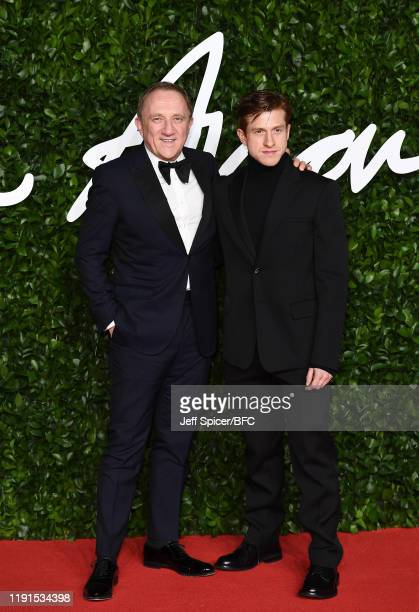 François-Henri Pinault and Daniel Lee arrives at The Fashion Awards 2019 held at Royal Albert Hall on December 02, 2019 in London, England.
