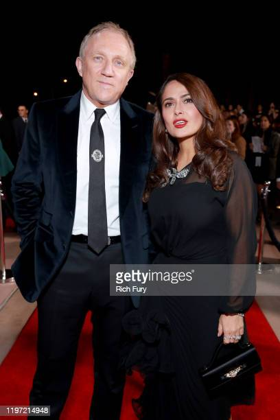 François-Henri Pinault and Salma Hayek attend the 31st Annual Palm Springs International Film Festival Film Awards Gala at Palm Springs Convention...