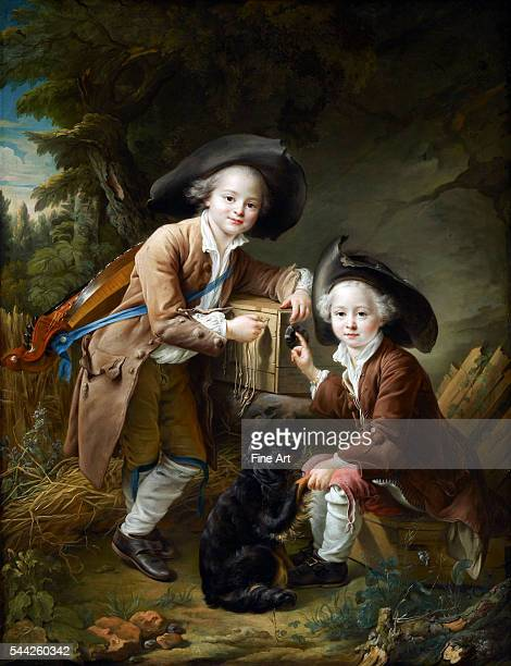 FrançoisHubert Drouais The Comte and Chevalier de Choiseul as Savoyards oil on canvas 1394 × 1067 cm Frick Collection New York Depicts...