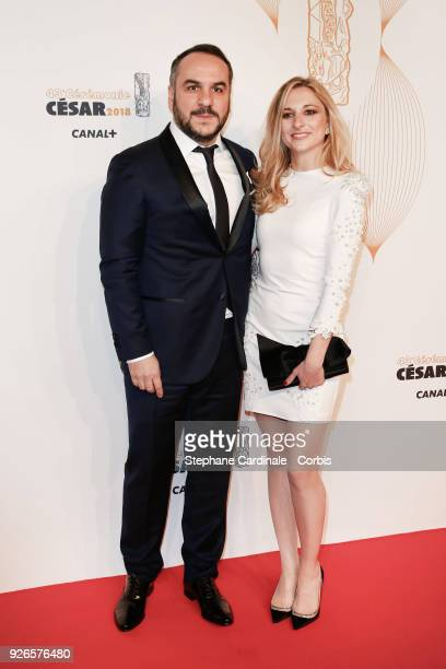 FranoisXavier Demaison and Anais Tihay arrive at the Cesar Film Awards 2018 at Salle Pleyel at Le Fouquet's on March 2 2018 in Paris France