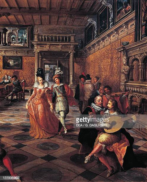 Frans Francken the Younger A Ball in a Flemish Interior Detail the dance