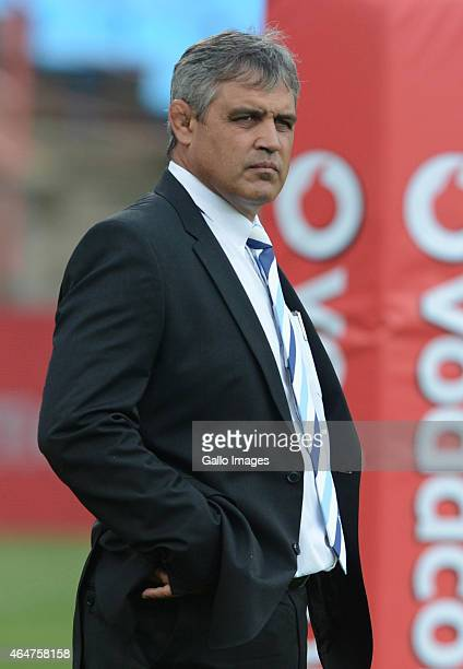 Frans Ludeke during the Super Rugby match between Vodacom Bulls and Cell C Sharks at Loftus Versfeld on February 28 2015 in Pretoria South Africa