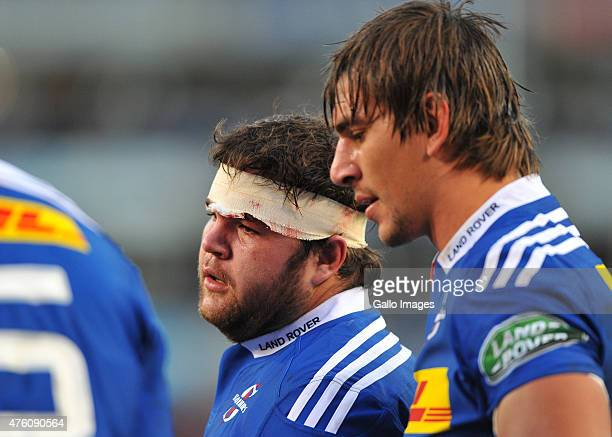 Frans Malherbe of the Stormers during the Super Rugby match between DHL Stormers and Emirates Lions at DHL Newlands Stadium on June 06 2015 in Cape...