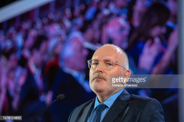 Frans Timmerman PES Common Candidate Designate to preside European Commission at delivers closing remarks at the Party of European Socialists PES...