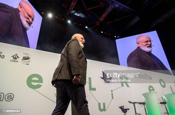 Frans Timmermans European Commission VicePresident and leader of European Green Deal project walks onstage to deliver remarks on climate change and...