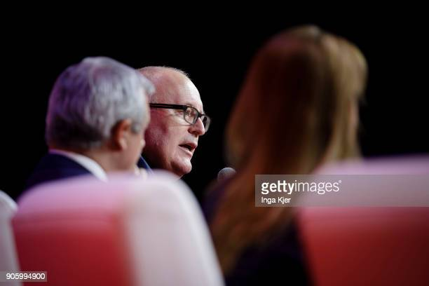 Frans Timmermans First Vice President at the European Commission in the course of the PES party congress on December 01 2017 in Lisbon Portugal