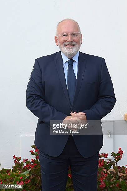 Frans Timmermans first vicepresident of the European Commission poses during the Ambrosetti International Economic Forum 2018 on September 7 2018 in...