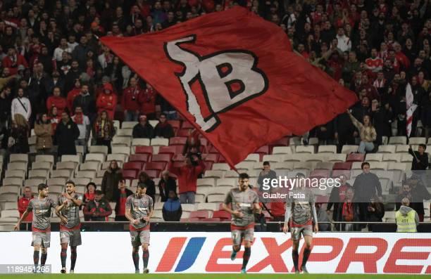 Fransergio of SC Braga celebrates with teammates after scoring a goal during the Taca De Portugal match between SL Benfica and SC Braga at Estadio da...