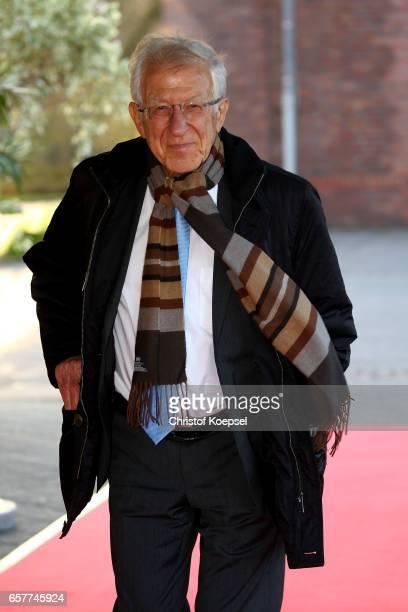 Franz Alt poses during the Steiger Award on at Coal Mine Hansemann 'Alte Kaue' March 25 2017 in Dortmund Germany