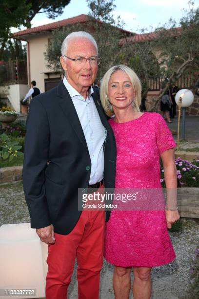 Franz Beckenbauer and Heidi Beckenbauer during the FCR EAGLES Masters Toscana golf tournament Dinner of FalkRaudies FCR Immobilien AG at Hotel Il...