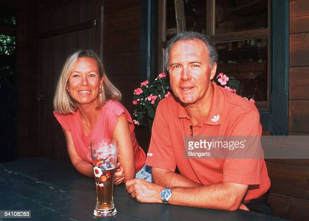 Franz Beckenbauer and his partner Sybille are seen in Kitzbuhel 1995 Austria