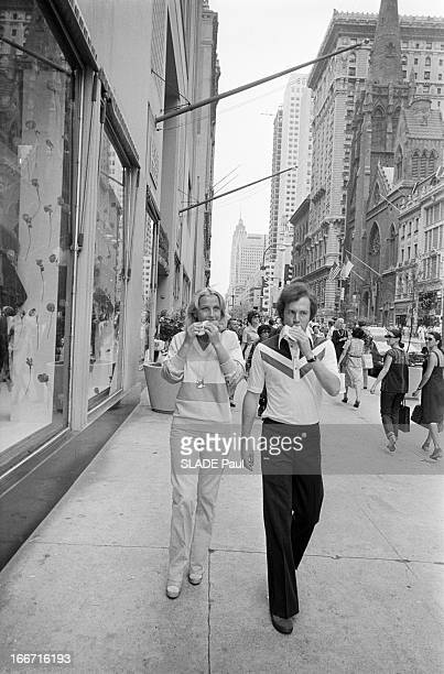 Franz Beckenbauer And His Wife Brigitte In New York