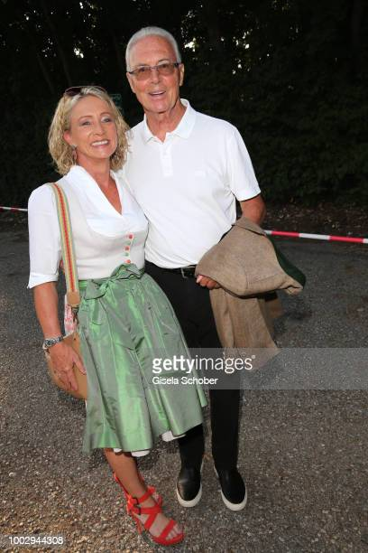 Franz Beckenbauer and his wife Heidi Beckenbauer during a bavarian evening ahead of the Kaiser Cup 2018 on July 20 2018 in Bad Griesbach near Passau...