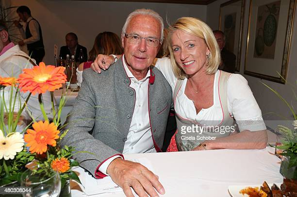 Franz Beckenbauer and his wife Heidi Beckenbauer during a Bavarian Evening ahead of the Kaiser Cup 2015 on July 10 2015 in Bad Griesbach near Passau...
