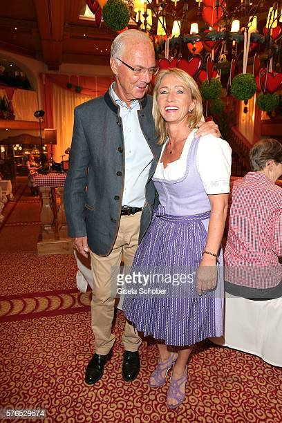 Franz Beckenbauer and his wife Heidi Beckenbauer during a bavarian evening ahead of the Kaiser Cup 2016 on July 15 2016 in Bad Griesbach near Passau...