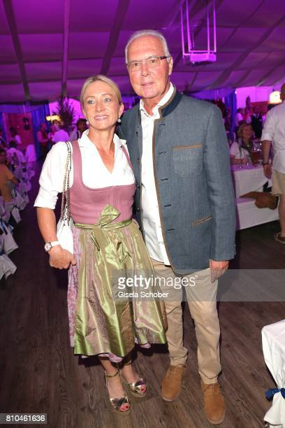 Franz Beckenbauer and his wife Heidi Beckenbauer during a bavarian evening ahead of the Kaiser Cup 2017 at the Quellness Golf Resort on July 7 2017...