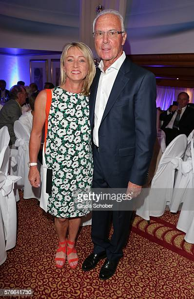 Franz Beckenbauer and his wife Heidi Beckenbauer during the Kaiser Cup 2016 gala on July 16 2016 in Bad Griesbach near Passau Germany