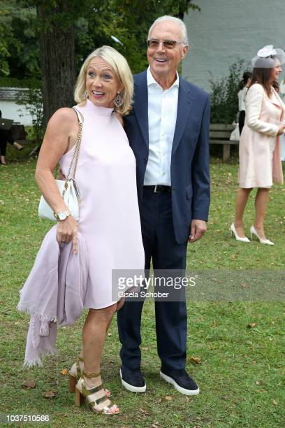 Franz Beckenbauer and his wife Heidi Burmester during the wedding of Ralph Siegel and Laura Kaefer at the Thomaskirche Gruenwald on September 15 2018...