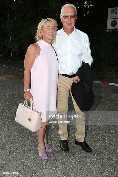 Franz Beckenbauer and his wife Heidi during the Kaiser Cup 2015 golfcup and gala on July 11 2015 in Bad Griesbach near Passau Germany