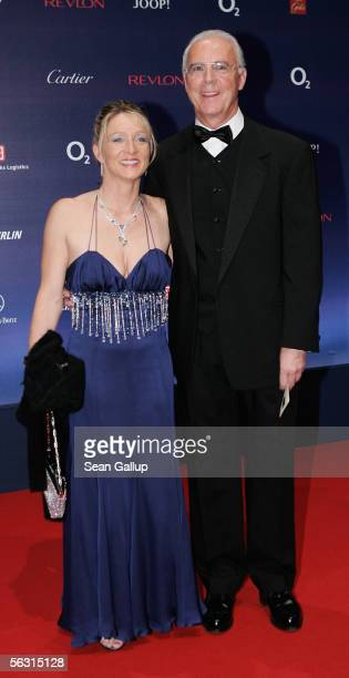 Franz Beckenbauer and his wife Heidrun Burmester arrive for the 57th annual Bambi Awards at the International Congress Center on December 01 2005 in...