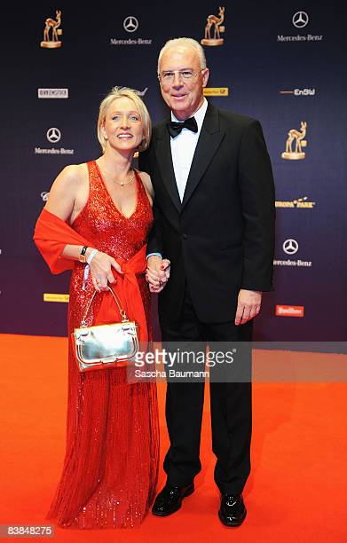 Franz Beckenbauer and wife Sybille arrive to the Bambi Awards 2008 on November 27 2008 in Offenburg Germany