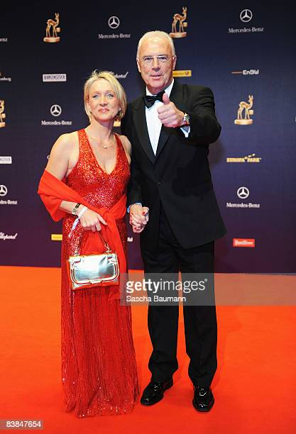 Franz Beckenbauer and wife Sybille arrives to the Bambi Awards 2008 on November 27 2008 in Offenburg Germany
