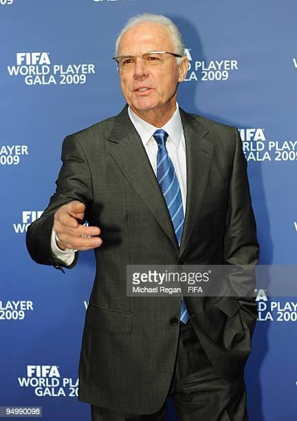 Franz Beckenbauer arrives for the FIFA World Player Gala on December 21 2009 in Zurich Switzerland