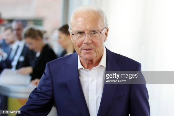 Franz Beckenbauer attends the Hall Of Fame gala at Deutsches Fussballmuseum on April 01 2019 in Dortmund Germany