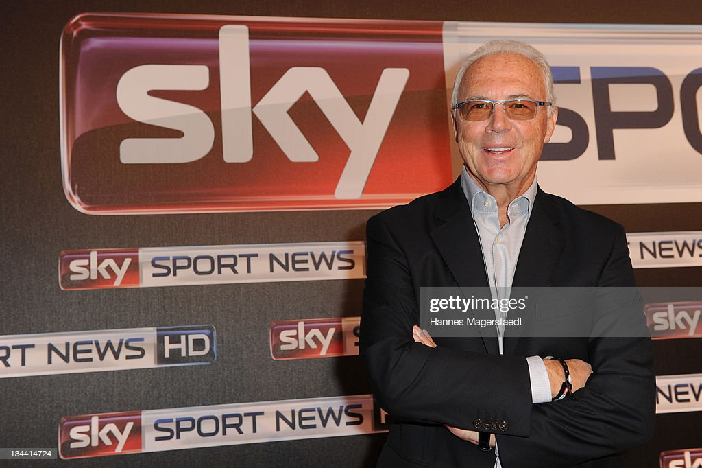 Franz Beckenbauer attends the Sky Sports News HD Stations Start at the SKY head office on December 01, 2011 in Munich, Germany.