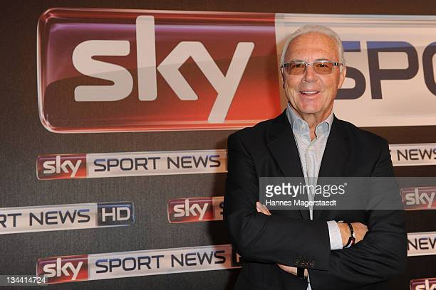 Franz Beckenbauer attends the Sky Sports News HD Stations Start at the SKY head office on December 01 2011 in Munich Germany