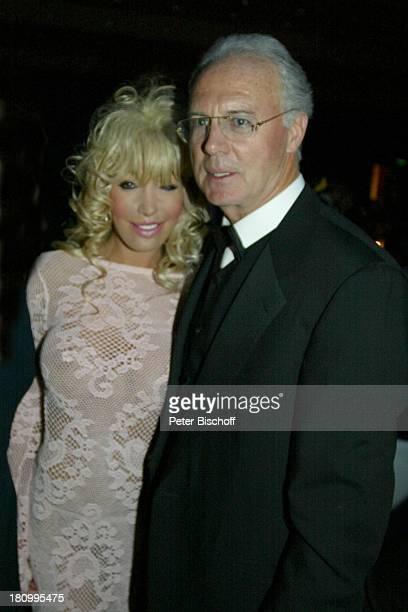Franz Beckenbauer Barbie Angela Vollrath 21 Deutscher Sportpresseball Frankfurt Alte Oper sexy Abendkleid Brille