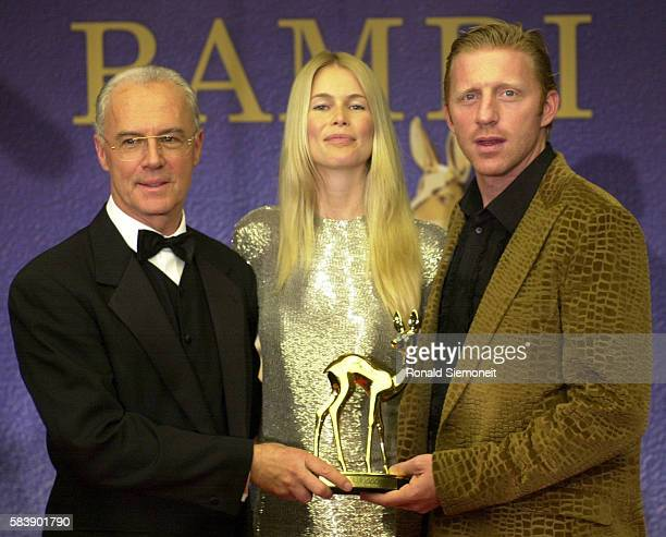 Franz Beckenbauer Claudia Schiffer and Boris Becker