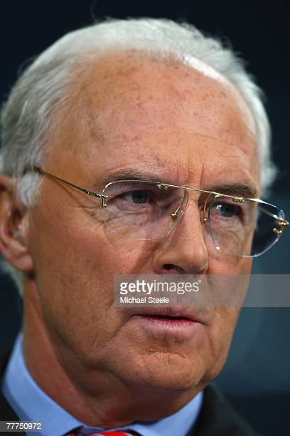 Franz Beckenbauer during the UEFA Champions League Group B match between Schalke 04 and Chelsea at the Veltins Arena on November 6 2007 in...