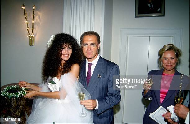 Franz Beckenbauer Ehefrau Sybille Janine Eke Hochzeit von J a c k W h i t e und Janine Eke Fußballer Sportler Braut trinken Getränk