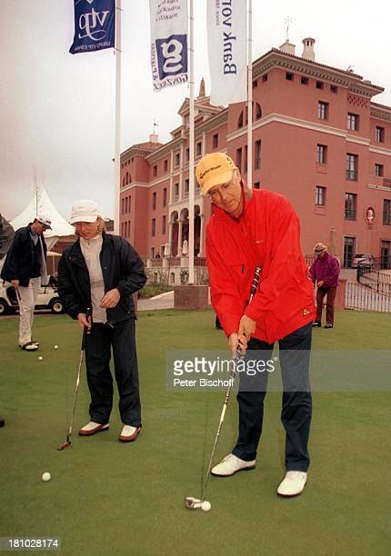 "Franz Beckenbauer, Freundin Heidi Burmester, Flamingos Golf Club, ""Hotel Villa Padierna"", ""Eagles"" Golf-Turnier, Cancelada bei Marbella/Costa del..."