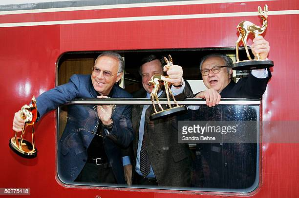 Franz Beckenbauer Hartmut Mehdorn Chief Executive of the German state railway company Deutsche Bahn AG and Doctor Hubert Burda Chief Executive and...