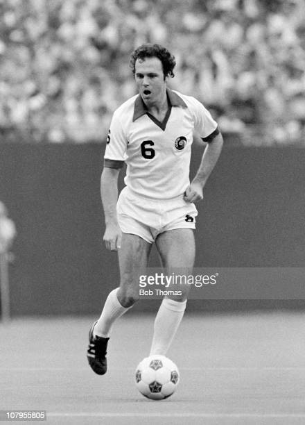 Franz Beckenbauer in action for the New York Cosmos against the Tampa Bay Rowdies in the NASL Soccer Bowl match at Giants Stadium in New York on 27th...