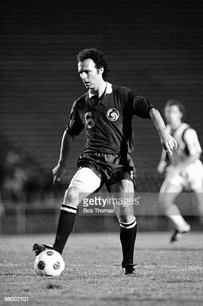 Franz Beckenbauer in action for the New York Cosmos during their NASL game against the Los Angeles Aztecs in Los Angeles August 1979