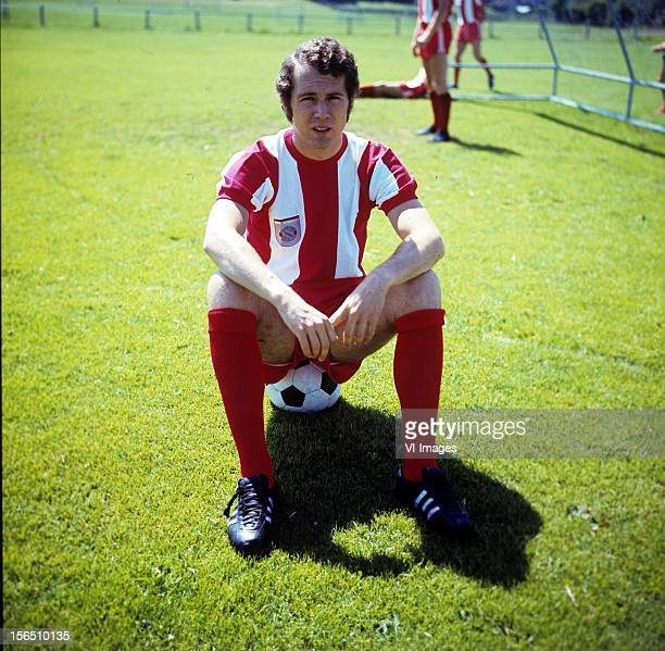 Franz Beckenbauer of Bayern Munich during a photo shoot on February 21 1972 at Munich Germany