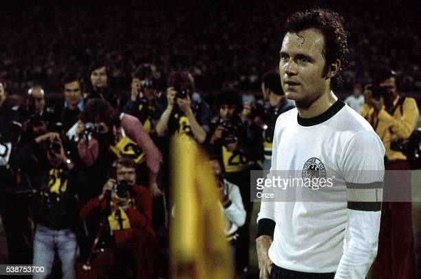 Franz Beckenbauer of West Germany during the European Championship Final match between Czechoslovakia and Germany in Stade Crvena Zvezda Belgrad...