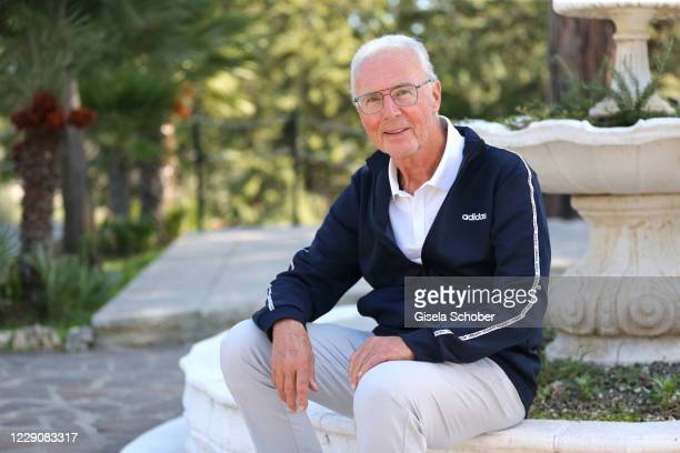 Franz Beckenbauer poses for a photo during the 30th anniversary celebration of the German World Cup win at 1990 on October 10, 2020 at hotel Il...