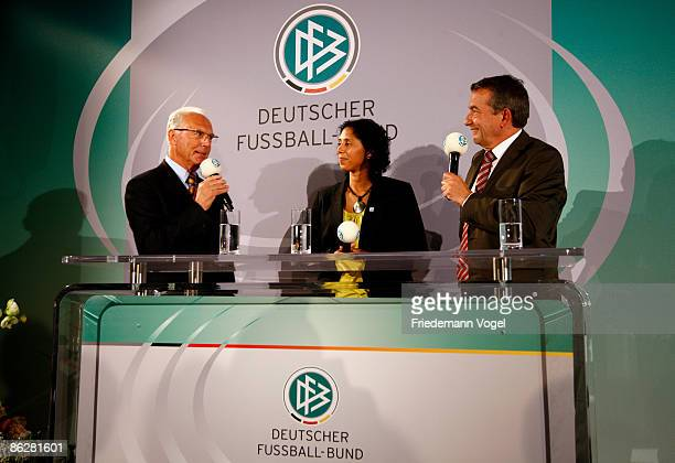 Franz Beckenbauer, Steffi Jones, President of the Organising Committee of the German Football Association for the 2011 FIFA Women's World Cup in...