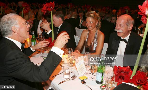 Franz Beckenbauer talks with Dr Dieter Zetsche CEO of DaimlerChrysler during the 2007 Sports Gala Ball des Sports at the RheinMain Hall on February 3...